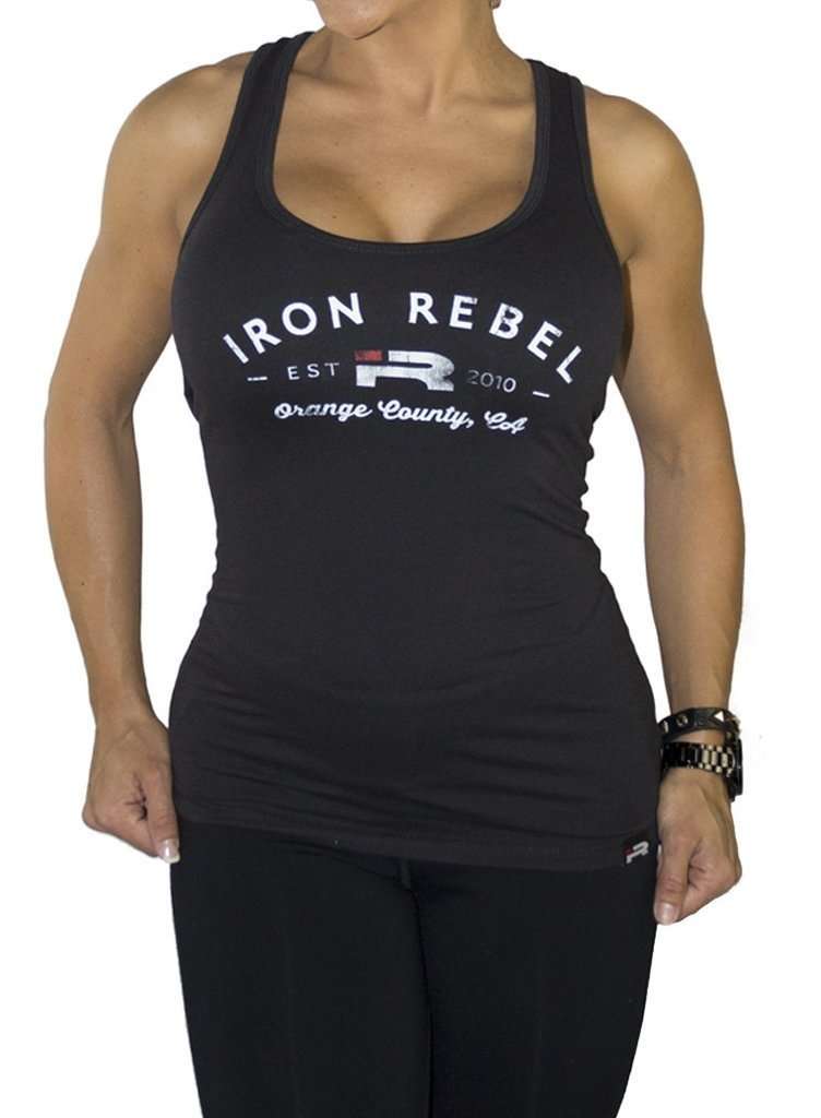 Iron Rebel Orange County Tank - Black - Urban Gym Wear