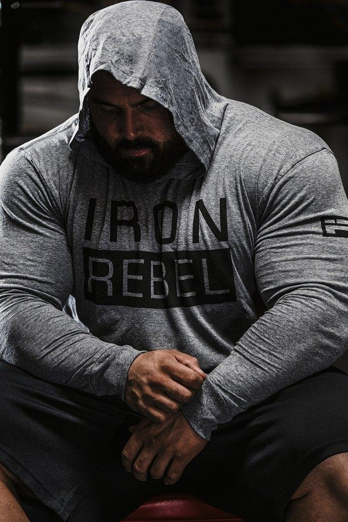 Iron Rebel Rogue Hoodie - Grey - Urban Gym Wear