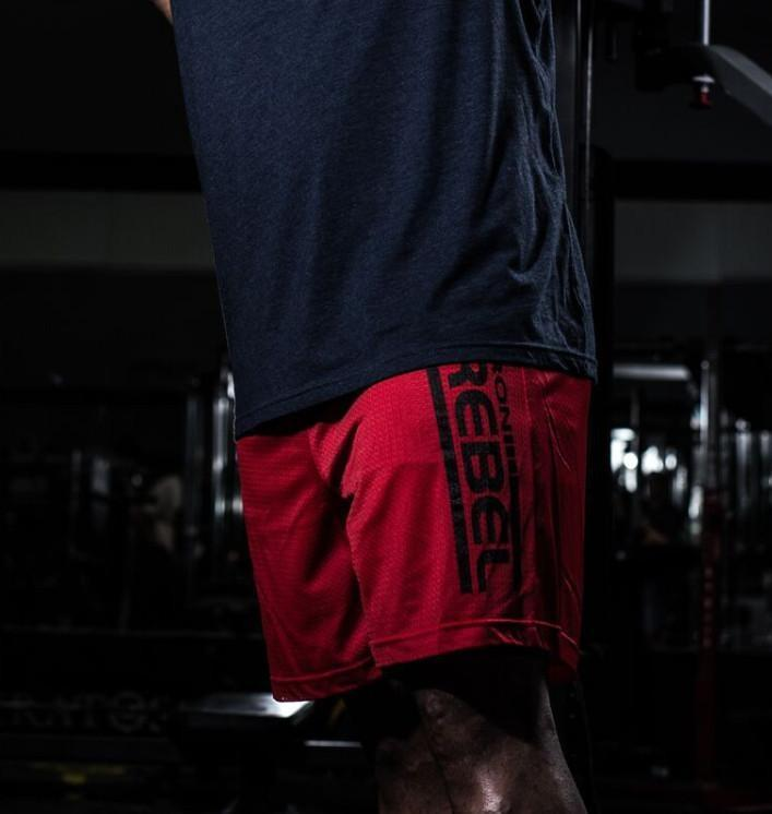 Iron Rebel Training Day Shorts - Red - Urban Gym Wear