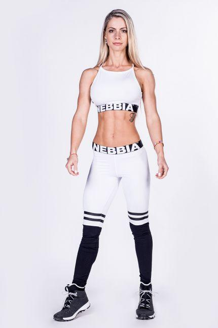 Nebbia Leggings Over The Knee 286 - White - Urban Gym Wear