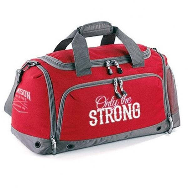 Samson Athletics Only The Strong Gym Bag - Royal Red - Urban Gym Wear
