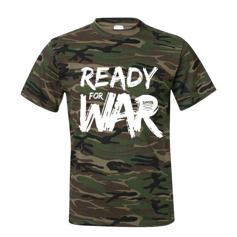 Samson Athletics Ready For War Heavy Cotton Camo Tee - Urban Gym Wear
