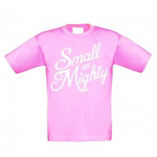 Samson Athletics Small But Mighty Kids T-Shirt - Pink - Urban Gym Wear