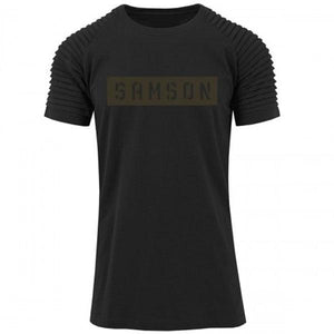 You added <b><u>Samson Athletics Stencil Pleated Tee - Black</u></b> to your cart.