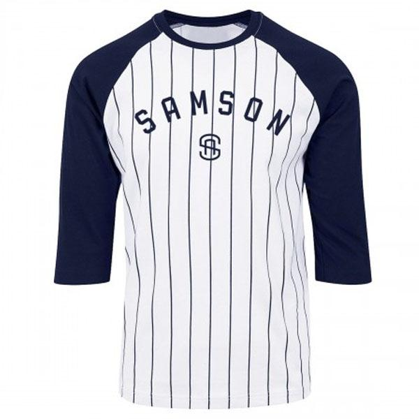 Samson Athletics Striped Baseball Tee - Urban Gym Wear