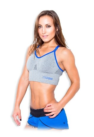 USN Women's Sports Bra - Grey - Urban Gym Wear