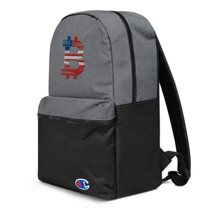 Bitcoin American Flag Embroidered Champion Backpack - Your perfect shirt
