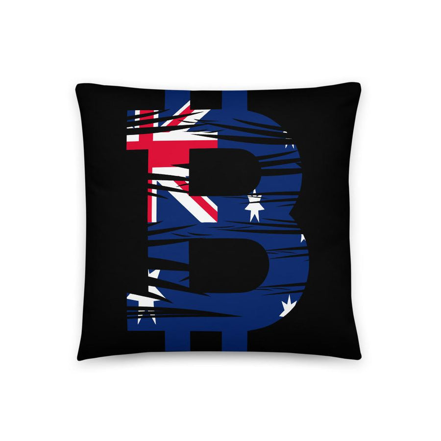 Bitcoin Australian Flag Basic Pillow - Your perfect shirt