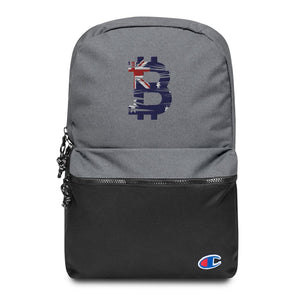 Bitcoin Australian Flag Embroidered Champion Backpack - Your perfect shirt
