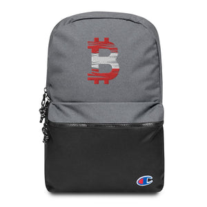 Bitcoin Austrian Flag Embroidered Champion Backpack - Your perfect shirt