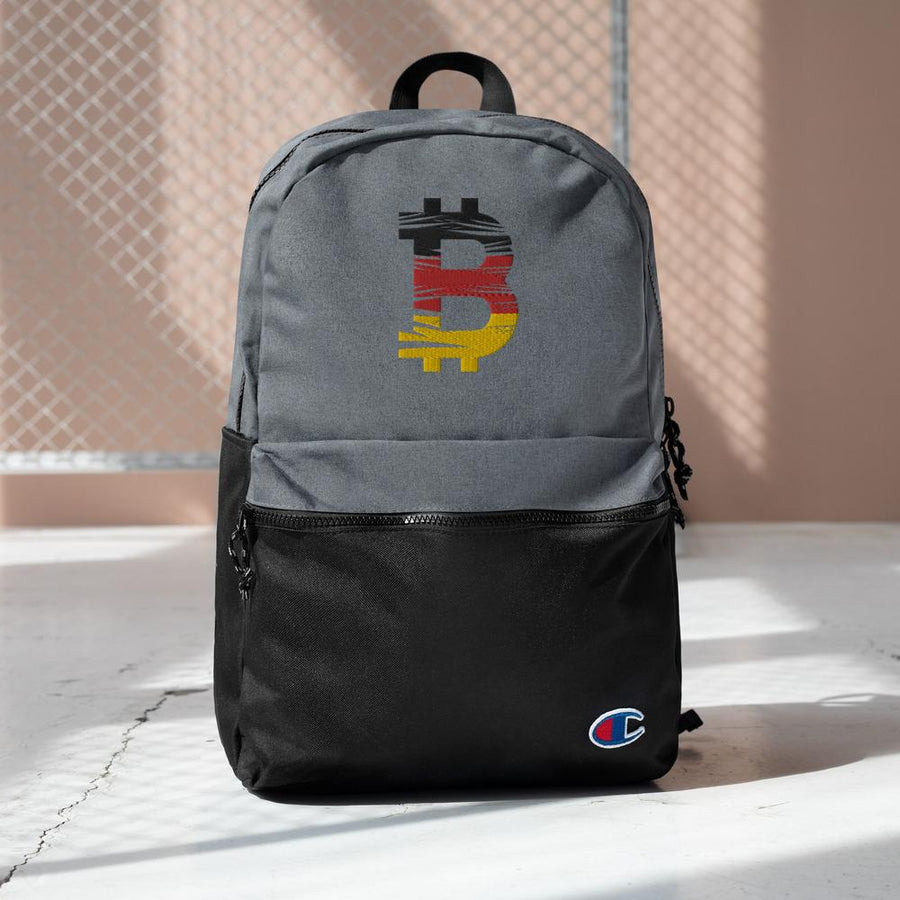 Bitcoin Belgium Flag Embroidered Champion Backpack 11 - Your perfect shirt