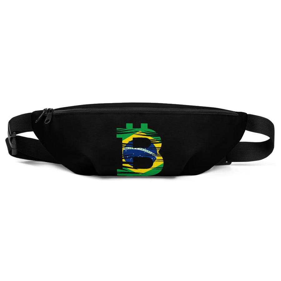 Bitcoin Brazilian Flag Fanny Pack - Your perfect shirt