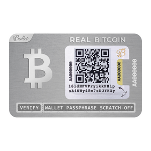 3X REAL BTC Wallet Stainless Steel  (25% DISCOUNT)