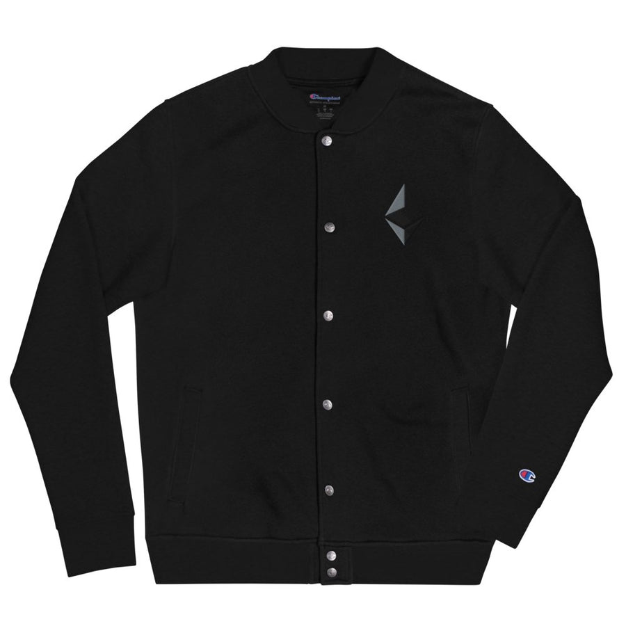 ''Ethereum'' Embroidered Champion Bomber Jacket - Your perfect shirt