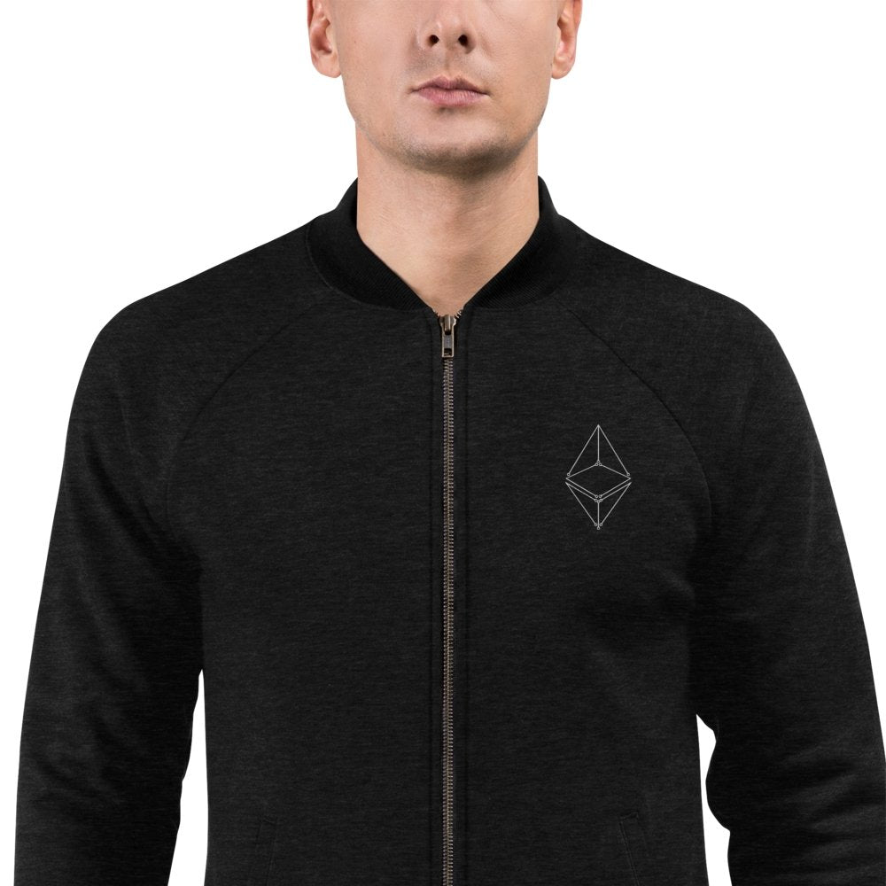 '' Ethereum Geometric'' Bomber Jacket - Your perfect shirt