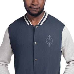 ''Ethereum Geometric'' Embroidered Champion Bomber Jacket - Your perfect shirt