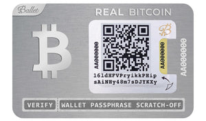 Real BTC Wallet Stainless Steel