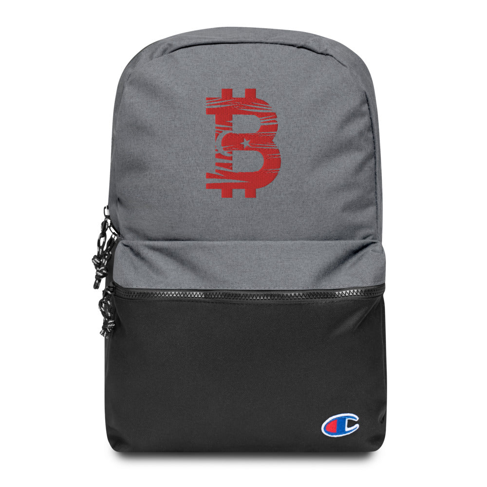 Bitcoin Turkish Flag Embroidered Champion Backpack