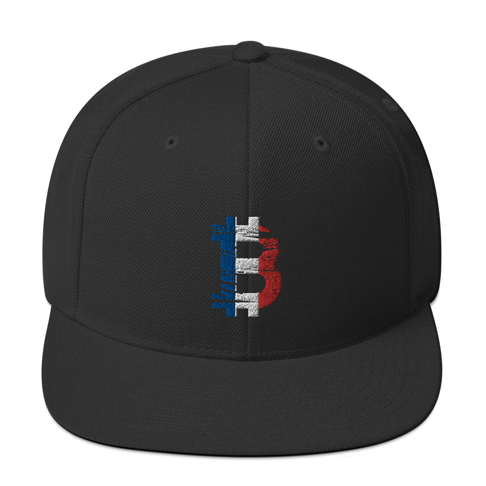 Bitcoin French flag Snapback hat