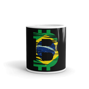Bitcoin Brazilian Flag Mug