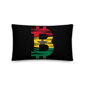 Bitcoin Ghanaian Flag Basic Pillow