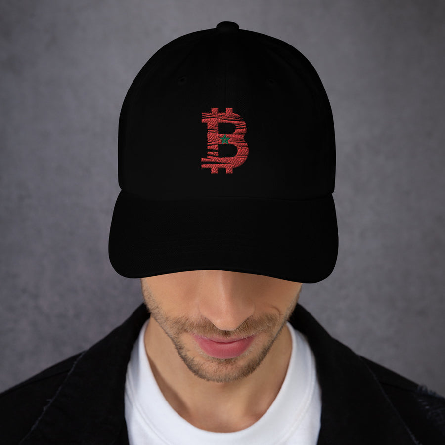 Bitcoin Moroccan flag Dad Hat