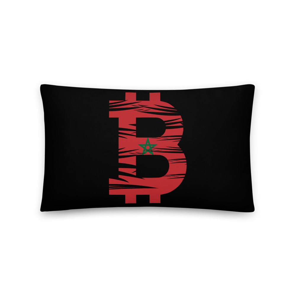 Bitcoin Moroccan Flag Basic Pillow