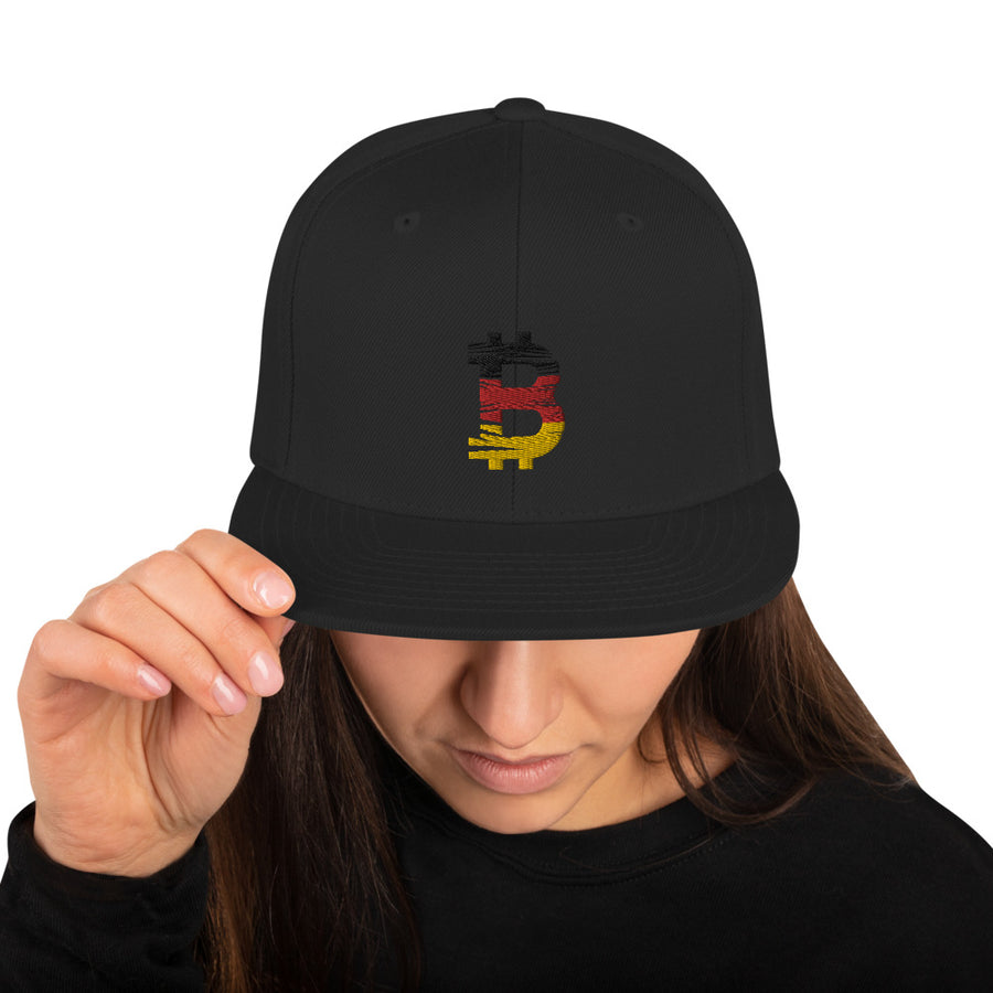 Bitcoin German flag Snapback hat