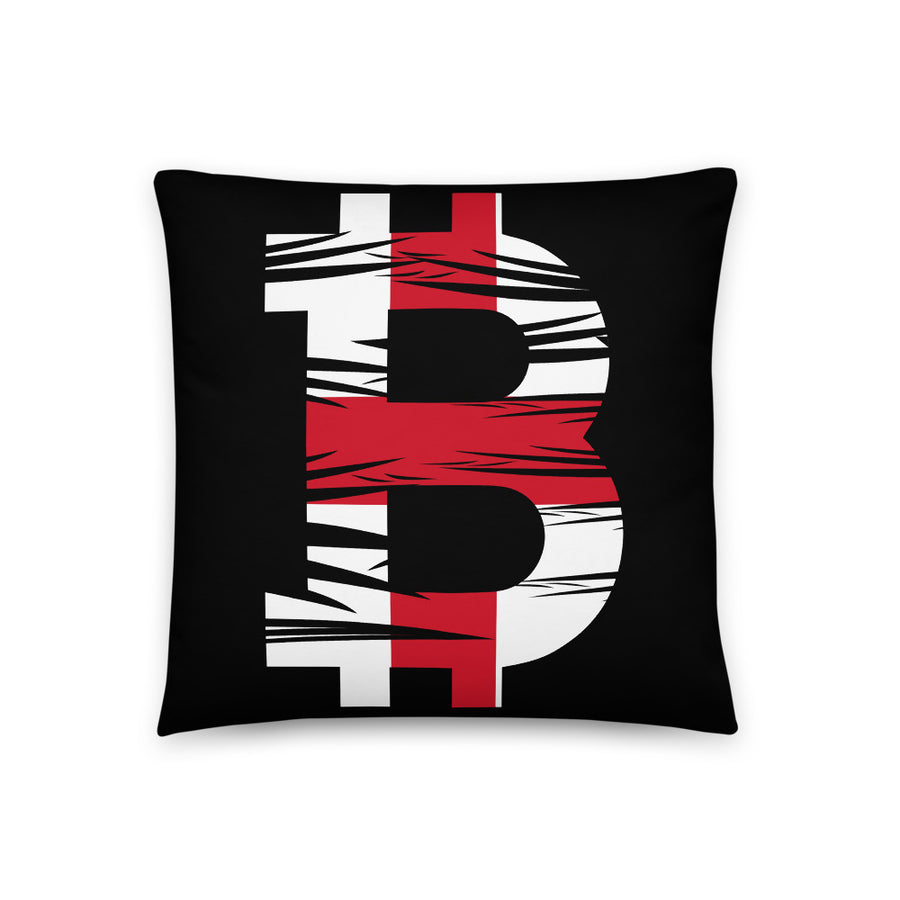 Bitcoin English Flag Basic Pillow