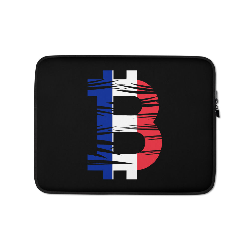 Bitcoin French Flag Laptop Sleeve