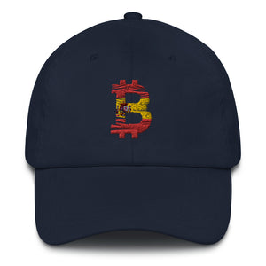 Bitcoin Spanish flag Dad Hat