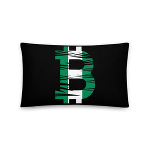 Bitcoin Nigerian Flag Basic Pillow