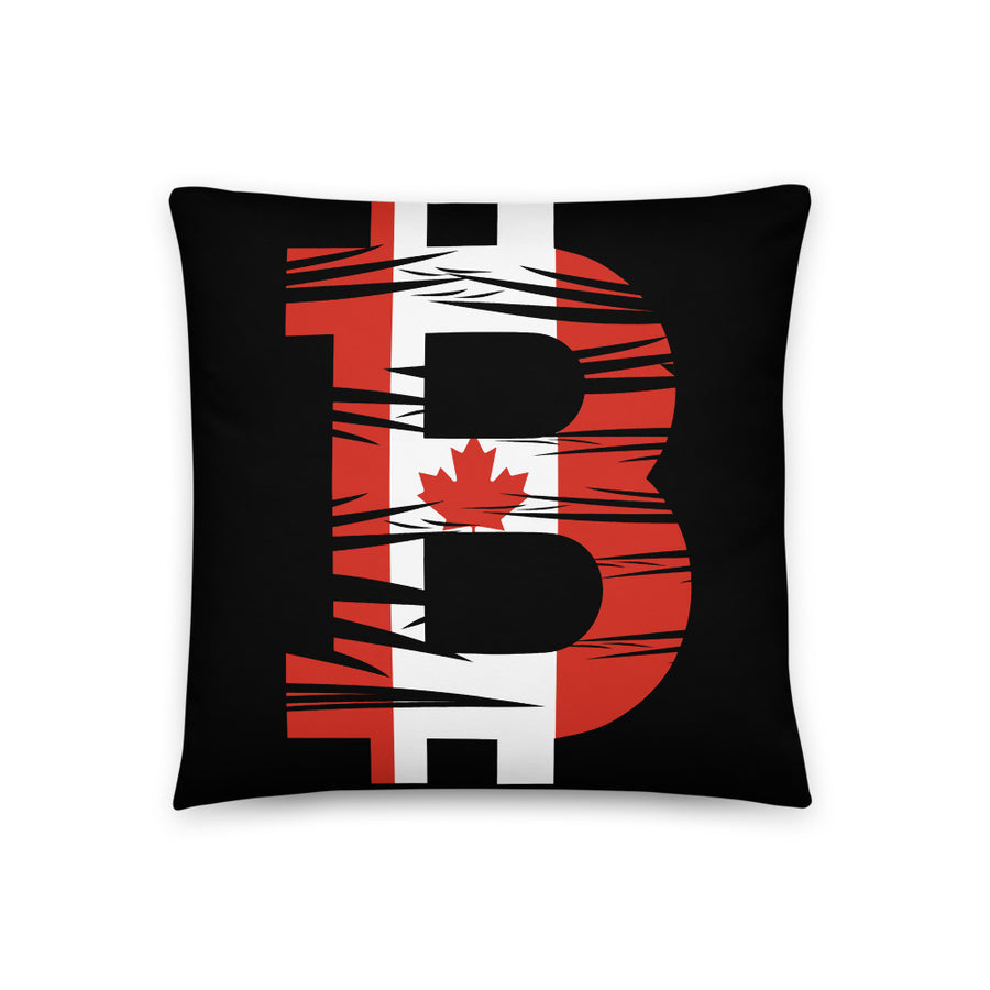Bitcoin Canadian Flag Basic Pillow