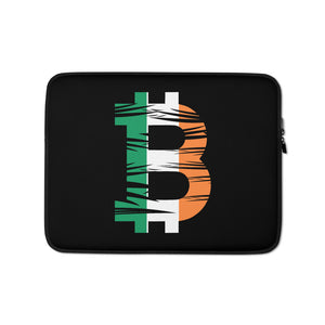Bitcoin Irish Flag Laptop Sleeve