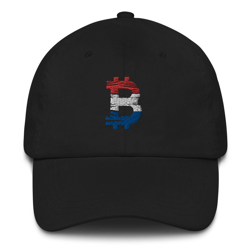 Bitcoin Netherlander flag Dad Hat