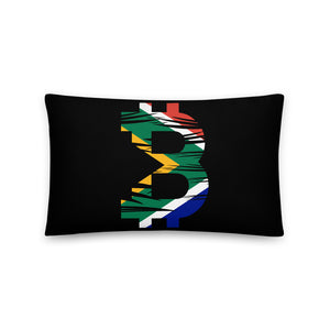 Bitcoin South African Flag Basic Pillow