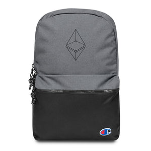 Ethereum Geometric Logo Embroidered Champion Backpack