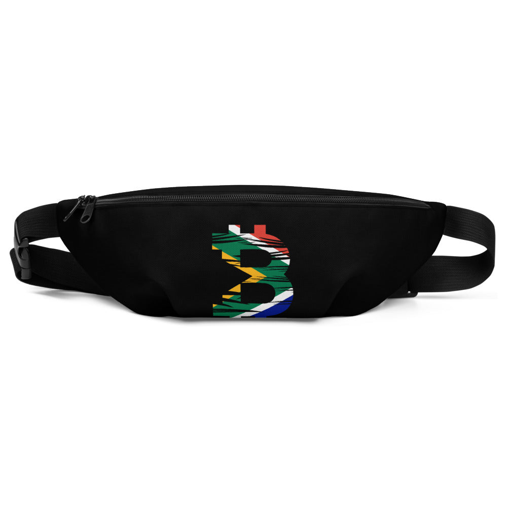 Bitcoin South African Flag Fanny Pack