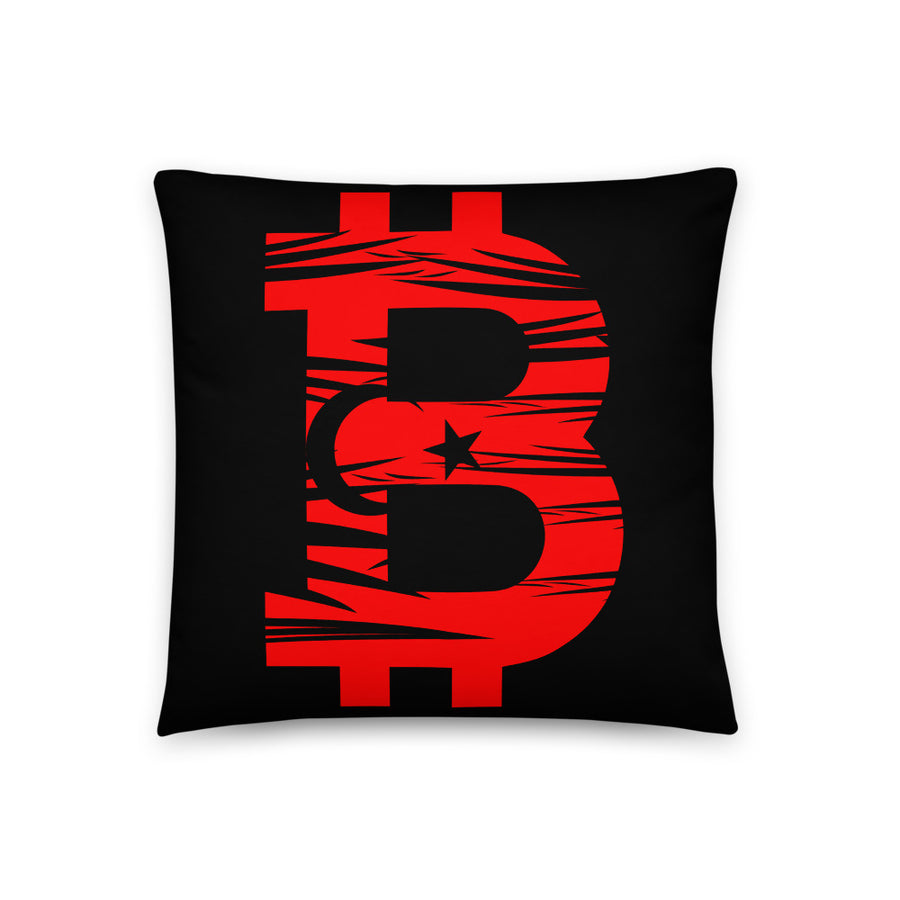 Bitcoin Turkish Flag Basic Pillow