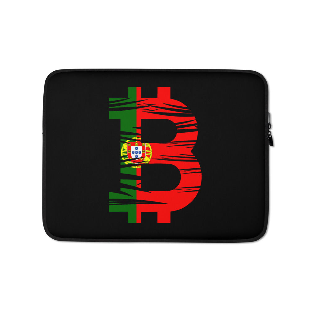 Bitcoin Portuguese Flag Laptop Sleeve