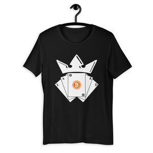 Bitcoin King of Cards Unisex T-Shirt