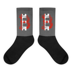 Bitcoin Flag Socks