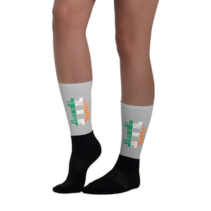 bitcoin Irish flag Socks