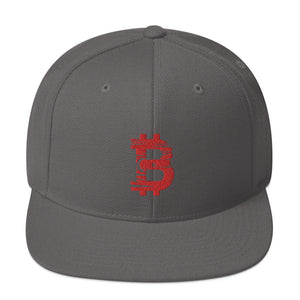 Bitcoin Turkish flag Snapback hat