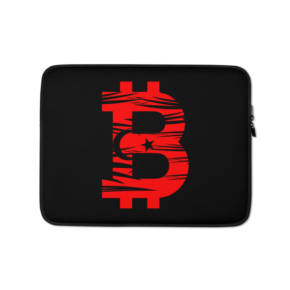 Bitcoin Turkish Flag Laptop Sleeve