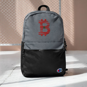 Bitcoin Morrocan Flag Embroidered Champion Backpack
