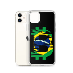Brazilian Bitcoin Flag iPhone Case