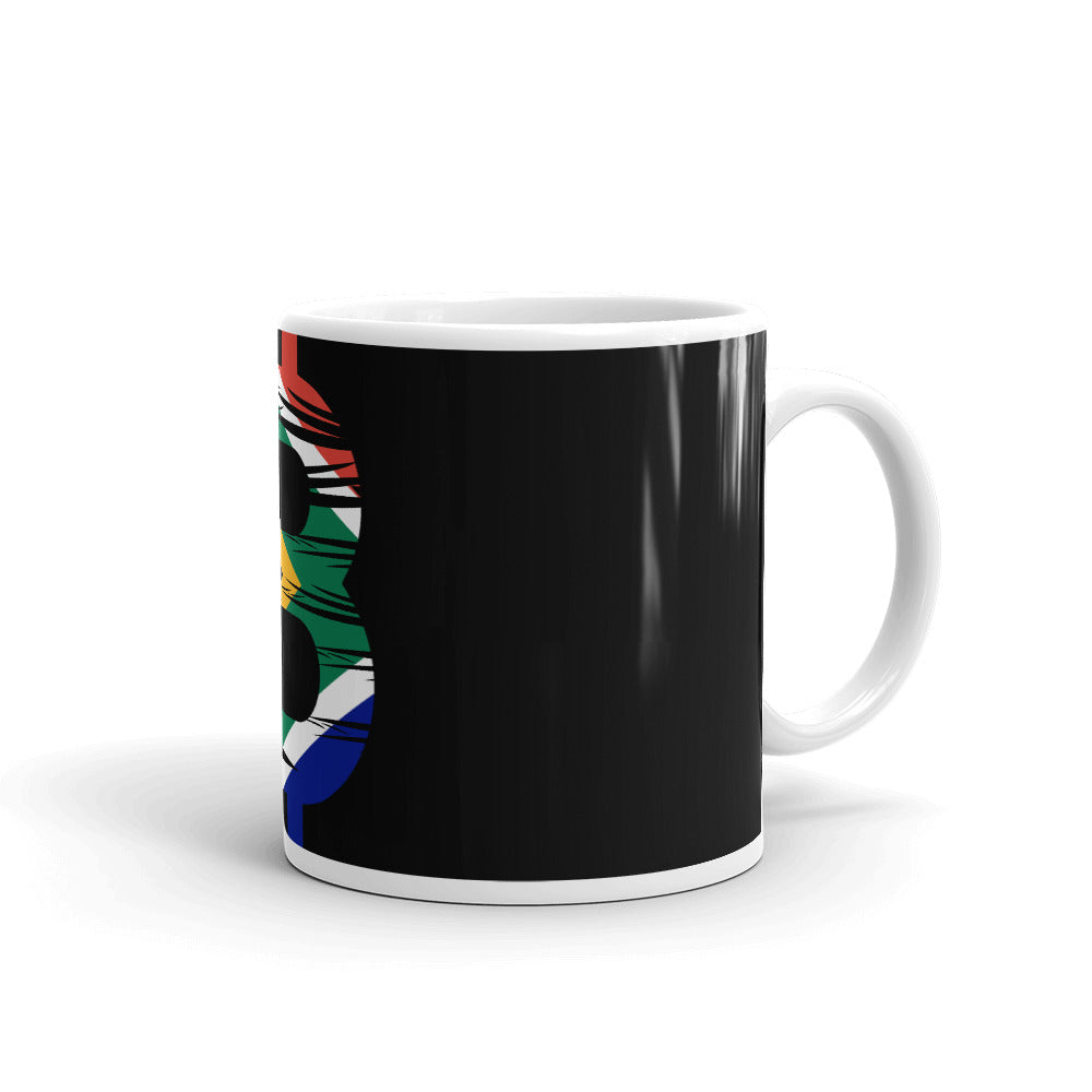 Bitcoin South African Flag Mug
