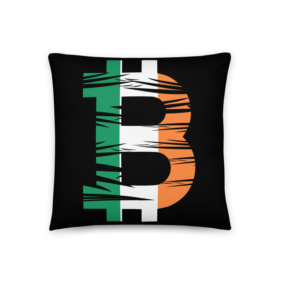 Bitcoin Irish Flag Basic Pillow