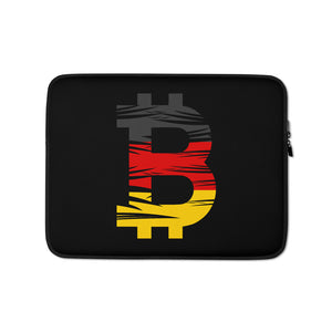 Bitcoin German Flag Laptop Sleeve